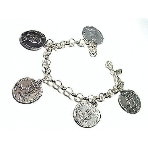 Pulsera lisa moneda